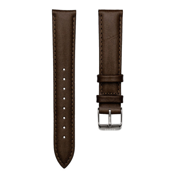 Dark Brown Leather Straps-18-dây nâu đậm