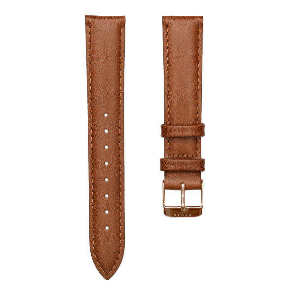 Tan Rose Leather Straps-18-dây nâu rosegold